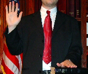 photo of man being sworn in